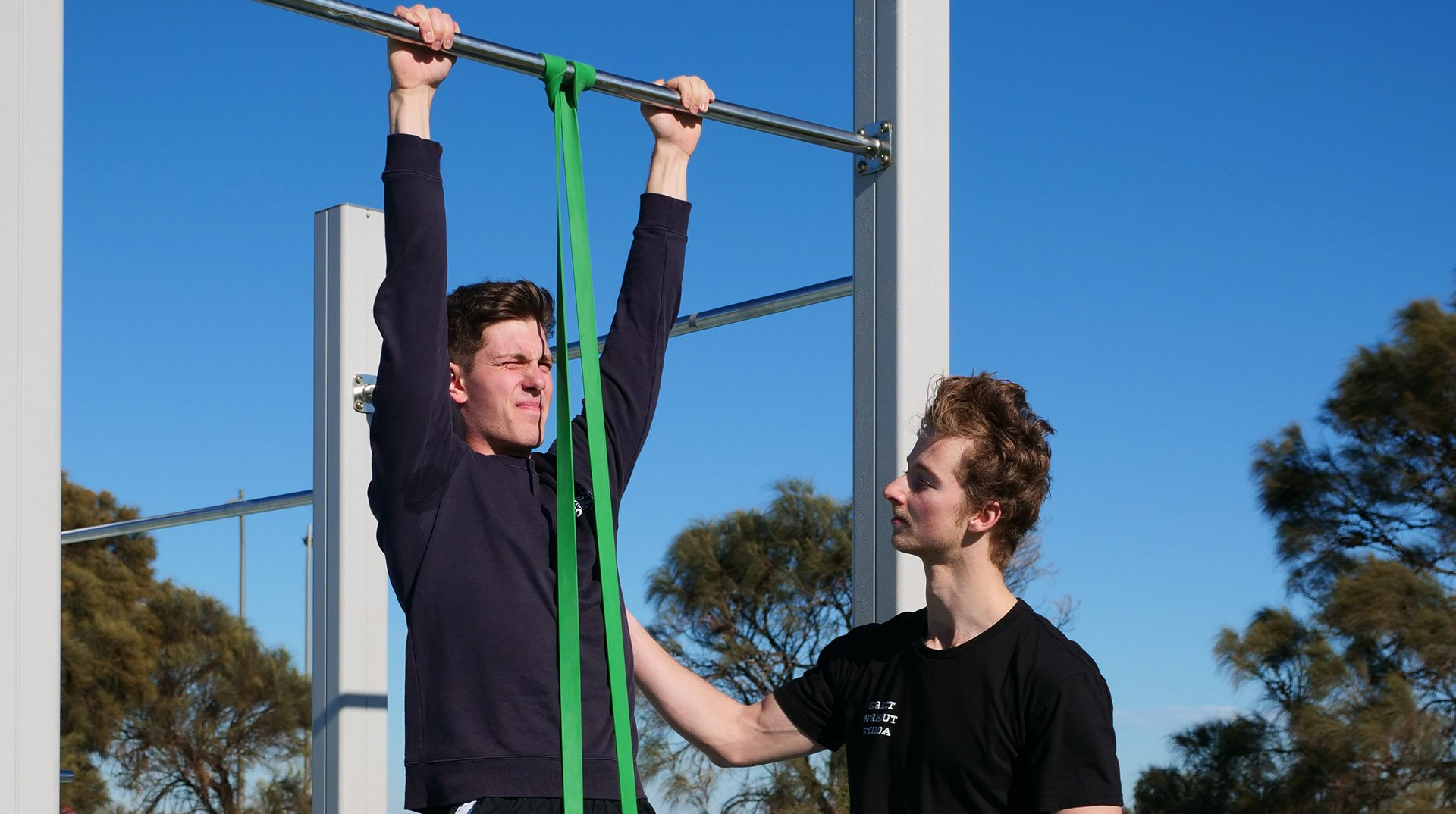 personal trainer melbourne pull up resistance band